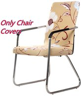 Deisy Dee Universal Computer Office Stretch Polyester Arm Chair Slip Covers C069