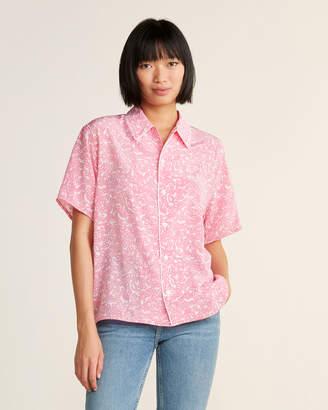 Marni Silk Floral Short Sleeve Sport Shirt