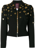 John Galliano Pre Owned button embellishments cropped jacket