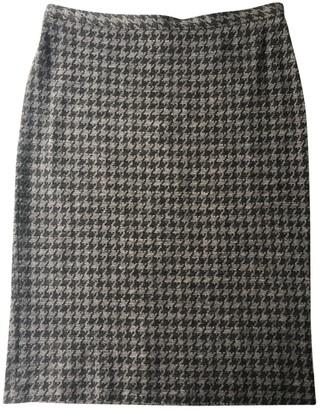 Armani Collezioni Grey Wool Skirt for Women Vintage