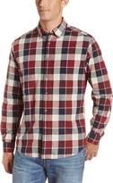 Haggar Men's LK Life Khaki Long Sleeve Poplin Plaid Woven Shirt