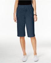 Karen Scott Petite Drawstring Skimmer Shorts, Only at Macy's