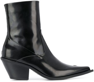 Misbhv Patent Ankle Boots