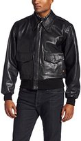 Alpha Industries Men's A-2 Leather Flight Jacket