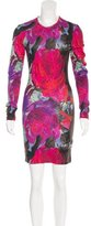 Christopher Kane Floral Print Bodycon Dress w/ Tags