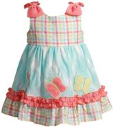 Youngland Toddler Girl Butterfly Seersucker Dress