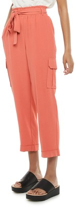 Juniors' Joe B Paperbag Tapered Leg Pants