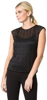 Le Château Women's Lace Top,XXS