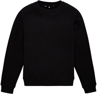 Very Unisex 2 Pack Basic School Sweat Top - Black