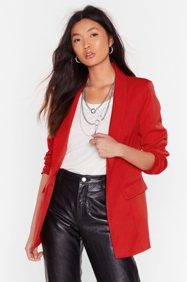 Nasty Gal Womens You Two Really Suit Tailored Blazer - 6
