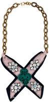 Lulu Frost Embellished Grosgrain X Necklace