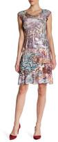 Komarov Abstract Cap Sleeve Dress