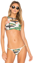 Lenny Niemeyer Sport Bikini Top in Green. - size L (also in )