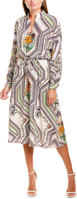 Tory Burch Drawstring Midi Dress