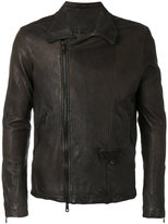 Giorgio Brato leather jacket - men - Leather/Polyester - 48
