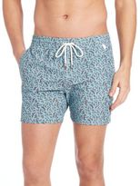 Isaia Coral Reef-Print Swim Shorts