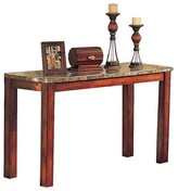 ACME Furniture Bologna Sofa Table Brown Marble & Brown Cherry - ACME