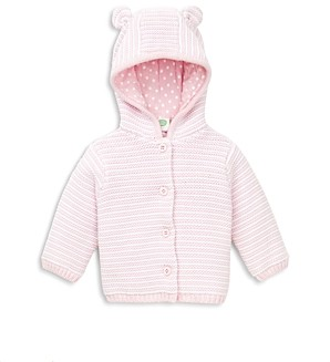 Little Me Girls' Striped Hooded Cardigan - Baby