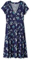L.L. Bean Womens Summer Knit Dress, Short-Sleeve Multifloral