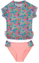 Hula Star 'Rose Tango' Two-Piece Rashguard Swimsuit (Toddler Girls & Little Girls)