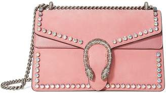 Gucci Pink Dionysus Crystal suede shoulder bag