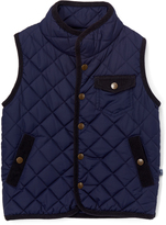 E-Land Kids Navy Quilted Vest - Boys