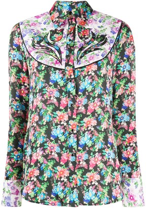 Paco Rabanne Western-style floral-print shirt