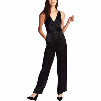 1 STATE Womens Black Sleeveless V Neck Evening Jumpsuit Size: 6
