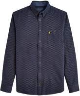 Mens Joules Blue Halbert Long Sleeve Classic Fit Spot Shirt