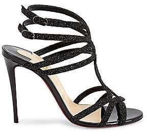 Christian Louboutin Women's Renee Glitter Leather Sandals