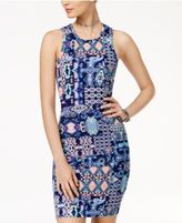 Planet Gold Juniors' Printed Racerback Bodycon Dress