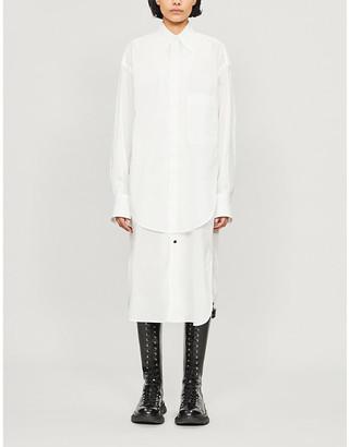 Y's Layered cotton-jersey shirt dress