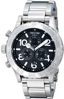 Nixon Men's NXA037000 Chronograph Uni-Directional Rotating Black Dial Watch
