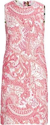 Dolce & Gabbana Sleeveless Jacquard Shift Dress