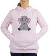 Royal Lion Women's Hooded Sweatshirt Cute Elephant Sitting