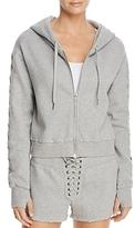 Pam & Gela Lace-Up Hoodie Sweatshirt