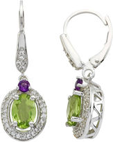 JCPenney FINE JEWELRY Multi-Gemstone Oval Drop Earrings