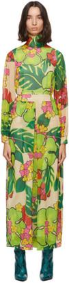 Dries Van Noten Green Floral Maxi Dress