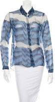 Michael Van Der Ham Printed Button-Up Top
