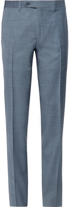 Canali Storm-Blue Slim-Fit Tapered Wool Suit Trousers - Men - Blue