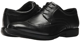 Nunn Bush Decker Wingtip Oxford with KORE Walking Comfort Technology (Black) Men's Lace up casual Shoes