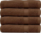 Ringspun Cotton Large Hand Towels (Brown, 4-Pack,16 x 28 inches) - Multipurpose Use for Bath, Hand, Face, Gym and Spa - By Utopia Towels