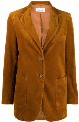 Brag-wette Corduroy Single-Breasted Blazer