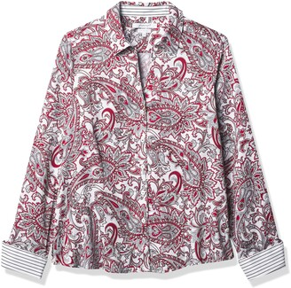 Foxcroft Women's Long Sleeve Lauren Romantic Paisley Shirt