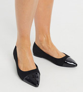 Simply Be Extra Wide Fit Simply Be ballerina flat shoe in extra wide fit in black