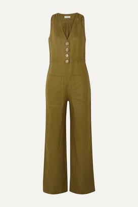 Nicholas Linen Jumpsuit - Army green