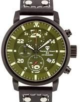 Tschuy-Vogt A15 Crusader ¿ Men¿s Swiss Quartz Watch, Military Inspired Design, Sapphire, Superluminova, High Grade Leather Strap,.