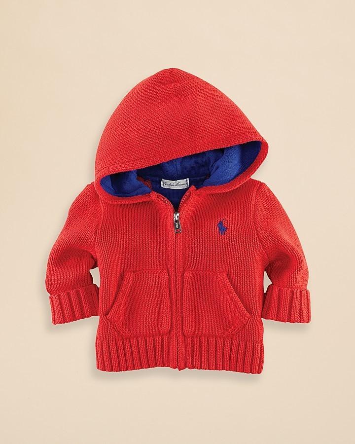 Ralph Lauren Infant Boys' Hooded Sweater - Sizes 3-9 Months