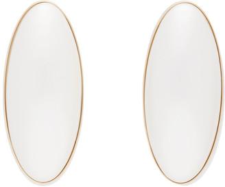 J.W.Anderson Off-White Oval Pearl Earrings