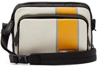Prada Striped Leather And Nylon Cross-body Bag - Mens - White Multi
